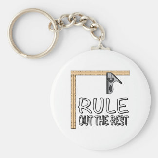Rule out the Rest Key Chain
