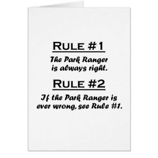 Rule Park Ranger Card