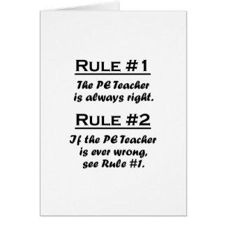 Rule PE Teacher Card