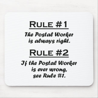 Rule Postal Worker Mouse Pad