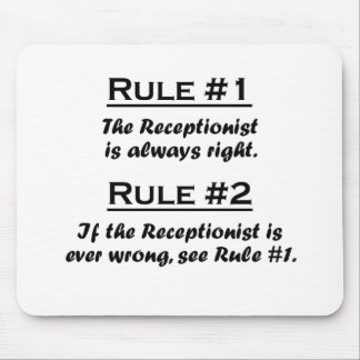 Rule Recptionist Mouse Pad