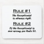 Rule Recptionist Mousepads