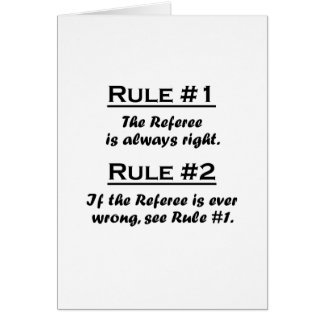 Rule Referee Card