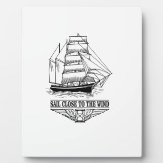 rule sail close to the wind plaque
