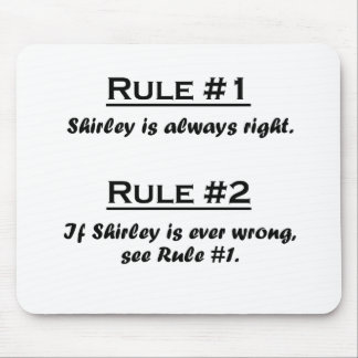 Rule Shirley Mouse Pads