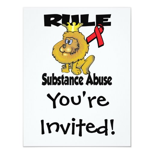 "Rule Substance Abuse 4.25"" X 5.5"" Invitation Card"