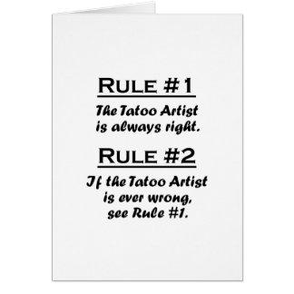 Rule Tatoo Artist Greeting Card