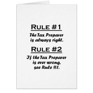 Rule Tax Preparer Card