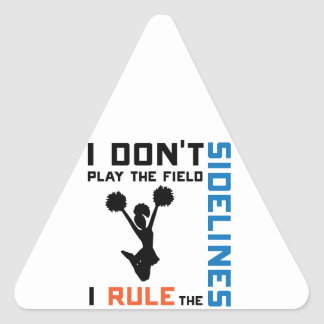 Rule The Sidelines Triangle Sticker