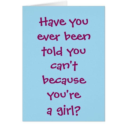 Rule the World Girl Card
