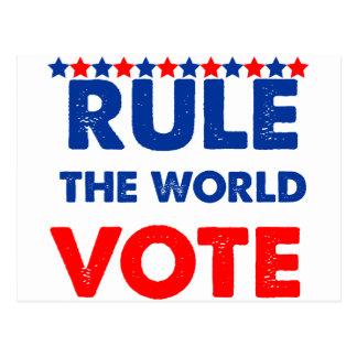 Rule the world vote postcard