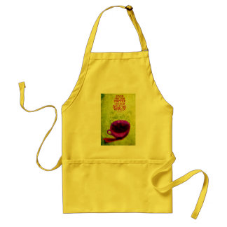 Rule the world with coffee! adult apron