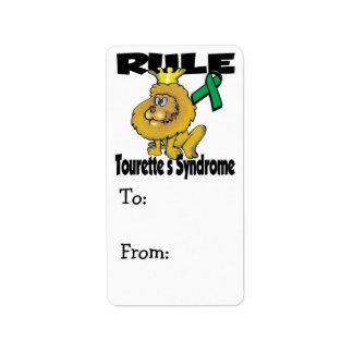 Rule Tourettes Syndrome Label