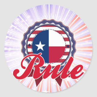 Rule, TX Round Stickers