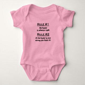 Rule Typist Baby Bodysuit