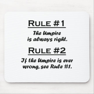 Rule Umpire Mouse Pad