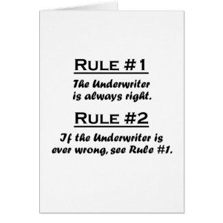 Rule Underwriter Card