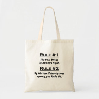 Rule Van Driver Tote Bags