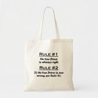 Rule Van Driver Bolsas Lienzo