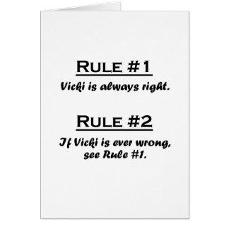 Rule Vicki Card
