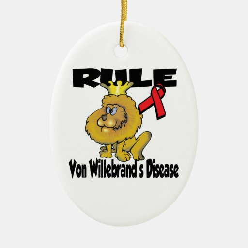 Rule Von Willebrands Disease Double-Sided Oval Ceramic Christmas Ornament