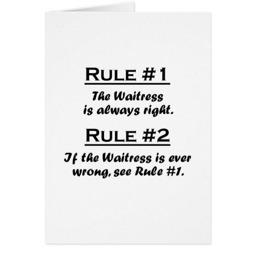 Rule Waitress Card