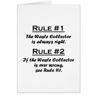 Rule Waste Collector Greeting Card