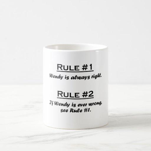 Rule Wendy Classic White Coffee Mug