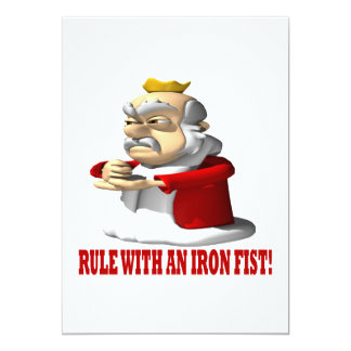 ruling with an iron fist New international version that one 'will rule them with an iron scepter and will dash them to pieces like pottery' --just as i have received authority from my father.