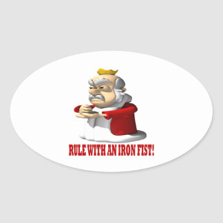Rule With An Iron Fist Oval Sticker