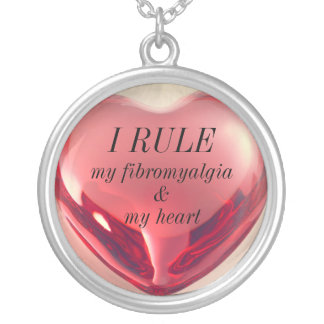 Rule your Fibro' & more: Silver Plated Necklace