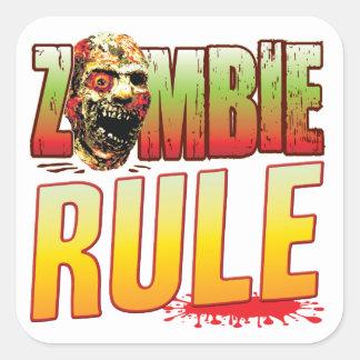 Rule Zombie Head Square Sticker