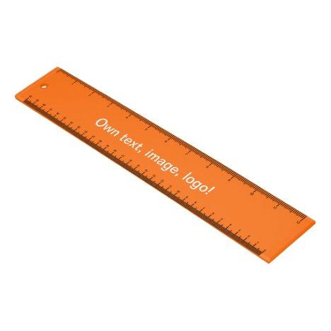 Ruler Acrylic uni Orange