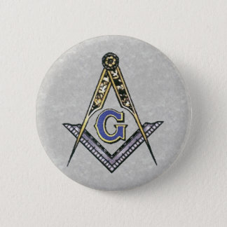 Ruler and compass pinback button