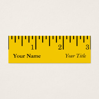 Ruler Business Card