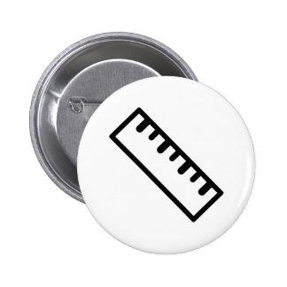 Ruler 2 Inch Round Button