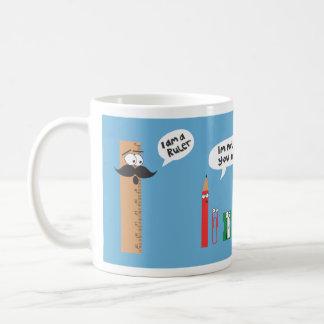 ruler classic white coffee mug