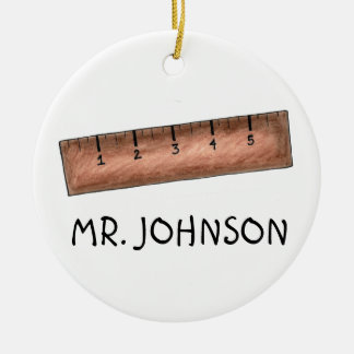 Ruler Math Teacher Personalized Christmas Ornament