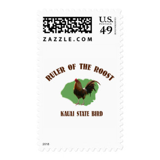 Ruler of the Roost Kauai Vertical Postage