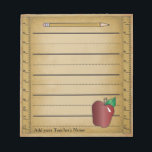 """Ruler Paper Notepad<br><div class=""""desc"""">Notepad. 100% Customizable. Ready to Fill in the box(es) or Click on the CUSTOMIZE IT button to change, move, delete or add any of the text or graphics. Made with high resolution vector graphics for a professional print. NOTE: (All zazzle product designs are &quot;prints&quot; unless otherwise stated) If you have...</div>"""