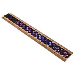 Ruler Purple Crystal Bling Strass