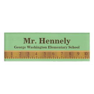 Ruler Teacher's Custom Name Tag