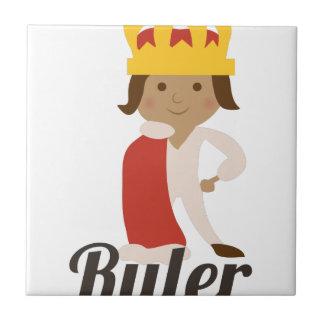 Ruler Small Square Tile