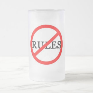 RULES 16 OZ FROSTED GLASS BEER MUG