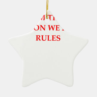 RULES CERAMIC ORNAMENT