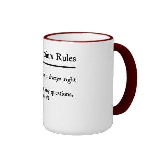 Rules de capitán taza de dos colores