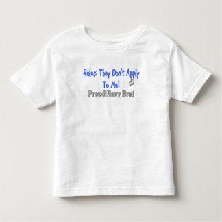 Rules Don't Apply Navy Brat Toddler T-shirt