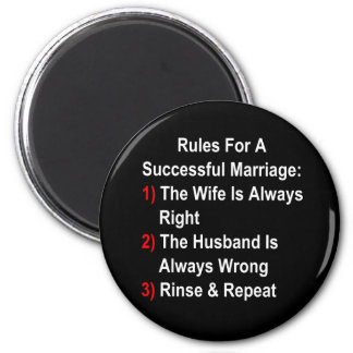 Rules For A Successful Marriage Fridge Magnets