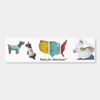 """""""Rules for Americans"""" USA Logo Bumper Stickers"""