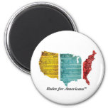 """""""Rules for Americans"""" USA Logo Magnet"""